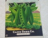 Card Seed Company, Peas seed packet, 1920's unused, Early Alaska