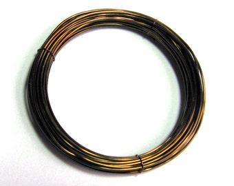 WIRE  28 gauge 10 ft. non tarnish round brilliant Antique Bronze Inspire Wire
