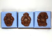 READY TO SHIP - Set of 3 Monkey Soaps - hear no evil, speak no evil, see no evil, chimpanzee, party favor, zoo animals, bar of soap, funny