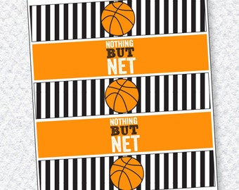 Basketball PRINTABLES Party Drink Labels (INSTANT DOWNLOAD)