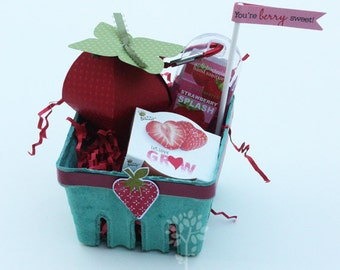 Strawberry basket, strawberry shortcake, birthday party favor, gift idea, teacher gift, friend gift, party favor