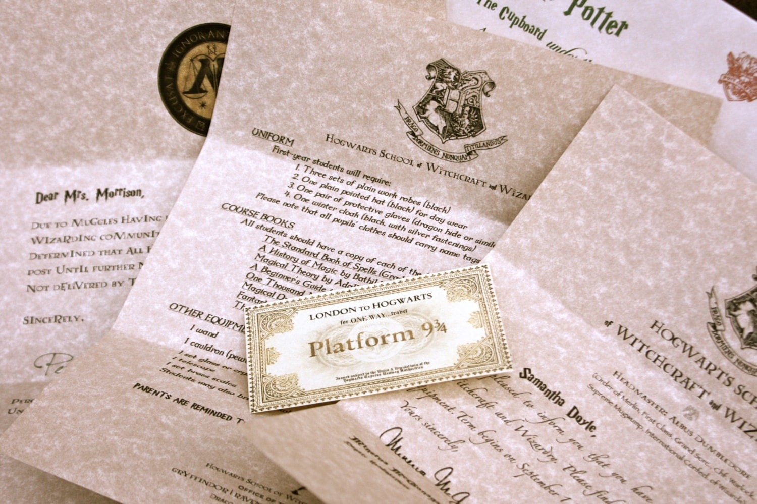 Hogwarts Acceptance Letter : Personalized Wizard by Lumos4Nox