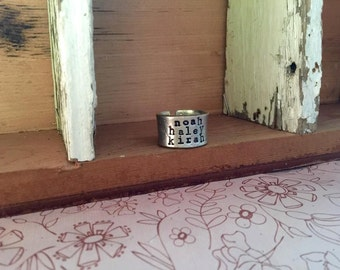 NEW-Pewter Cuff Brag Ring