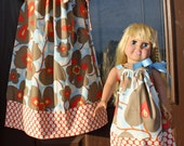 Matching Child (0-8) and Doll (16-18 inches) Pillowcase Dresses in Amy Butler Lotus