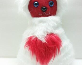 Faux fur Valentine Cat