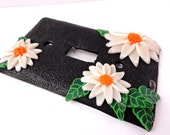 Daisy Chain single light switch plate by Marie Segal 2014