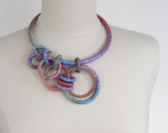Asymmetrical Statement Necklace Watercolor