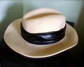 Vintage Fedora Fedoria Original Michael Howard Never Worn Cream with Black Band