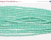 ON SALE Luster Turquoise 2mm Fire Polished