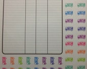 PRINTABLE Package Tracking and Delivery Stickers for Erin Condren Planner