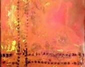 Original Handmade Encaustic Painting 5x5x1