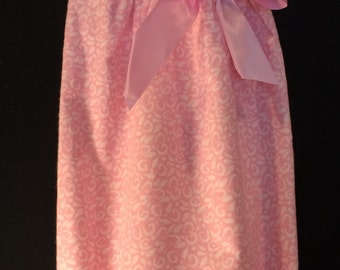 Monogrammed Pink Floral Flannel Daygown