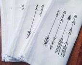 Linen Napkin Set of Four: Arrows