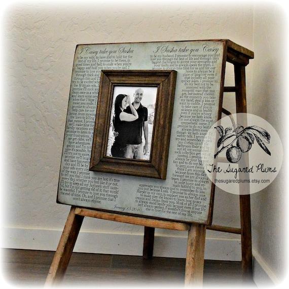 Wedding Vow Gifts: Wedding Vow Art Framed Wedding Vows Wedding Vow Keepsake
