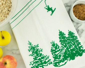 Alpine Trees Tea Towel