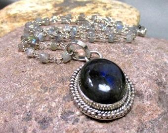 Labradorite Necklace and Pendant