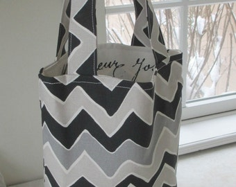 NEW REVERSIBLE MINI Tote Fabric Inside and Outside Fabric,Lunch Bag,  Bags, Totes, Bridesmaids, Beach