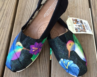 Hummingbird Custom Toms Shoes