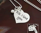 I Love You More Heart Necklace
