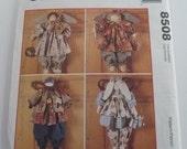 UNCUT McCalls Crafts Pattern 8508 Faye Wine Seasonal Angels Bunny Sunflower Scarecrow Snowman
