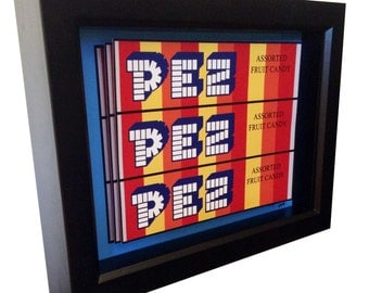 Pez 3D Pop Art Pez Dispenser Artwork Print Candy Art