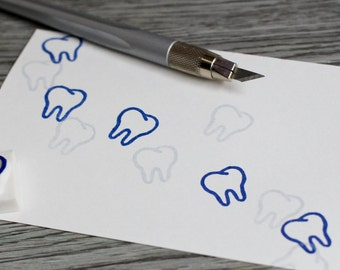 tooth stamp, dentist rubber stamp, teeth dental stamp, molar, tooth fairy stamp, health care, stamp for child, dental service stamp