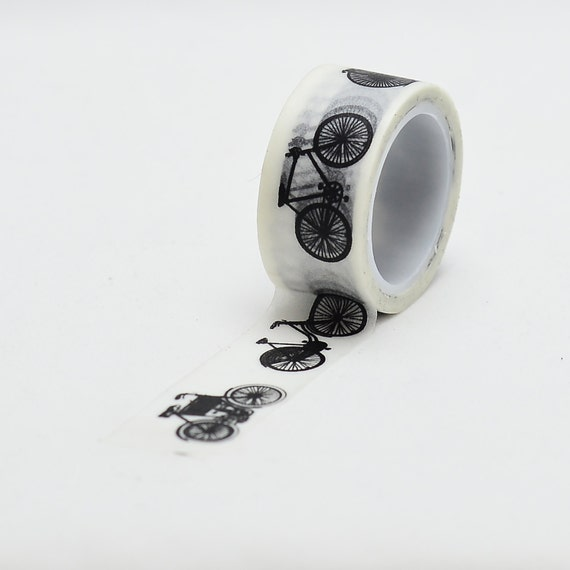 Bicycle Black and White Washi Tape - LMT 1143 - Love My Tapes