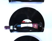 Chingy Upcycled Vinyl Record Wine Rack Wall Organizer - Set of 3