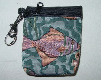 Tropical Fish Tapestry  Belt Pack/Key Chain Combo