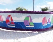 """Big Dog Collar  Spinnaker 1.5"""" adjustable Side Release buckle - martingale style is cost upgrade"""