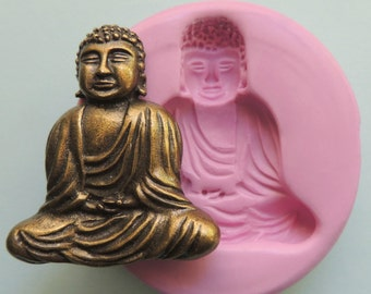 Silicone Buddha Mold Fondant Clay Resin Sugar Polymer Clay Wax Soap Mold