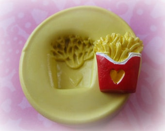 Barbie Size French Fry Food Mold Clay Resin Jewelry Charms Flexible Molds