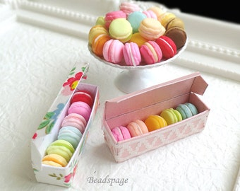 Miniature Macarons for 1/8 ~ 1/6 Scale BJD Barbie Blythe Licca Azone - Sweet French Pastry Dolls Fake Food High-Tea