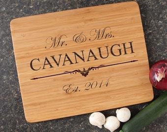 Personalized Cutting Board, Engraved Cutting Board, Bamboo Cutting Boards, Personalized Wedding Gift, Housewarming Gift-15 x 12 D19
