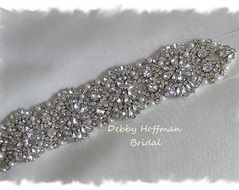 Pearl Bridal Belt, 31 inch Pearl Crystal Wedding Belt, Pearl Bridal Sash, Pearl Jeweled Wedding Sash, Vintage Style Bridal Sash, No. 4069-31