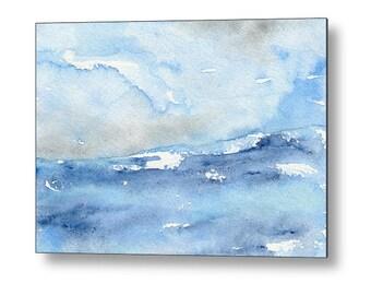 Tempest Ocean Seascape Birchwood or Metal Art Print - Home Decor