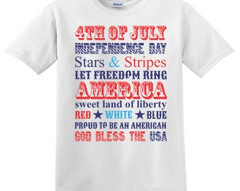 4th of July tshirt or onesie Stars and Stripes