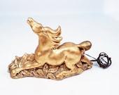 Golden Stallion TV Lamp