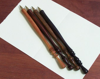 Hand-Turned Wood Ballpoint Pen