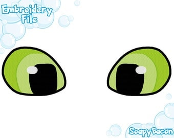 EMBROIDERY FILES: Toothless Eyes - Embroidery Machine Design File