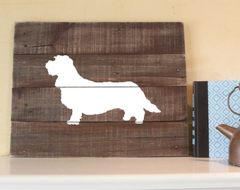 Petit Basset Griffon Vendéen Silhouette -  Reclaimed Wood Sign