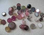 30 Shank  BUTTONS  Various Colors  Sizes Vintage Round Variety