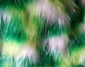 Multi Color Lime/Green/White with tinsel