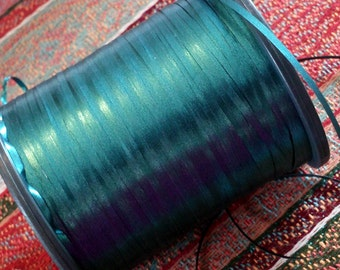 Japanese Spool of Teal Metallic Thread Ribbon (T115)
