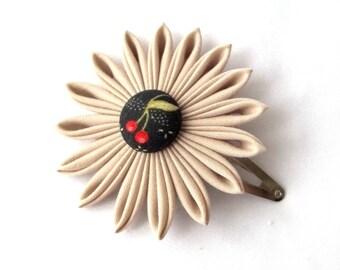 Cherry Flower Hair Clip Tsumami Kanzashi