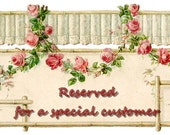 Reserved for Siobhan Smith - Deposit for custom wedding jewelry