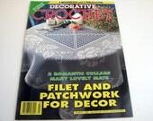 Vintage DECORATIVE CROCHET Pattern Book...March 1995 # 44 - filet crochet - butterfly crochet - bedspread patterns - tablecloth patterns