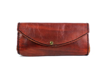 Redwood Leather Clutch | Handmade Leather Envelope Bag
