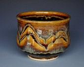 Dark Umber Stoneware Tea Bowl Chawan A
