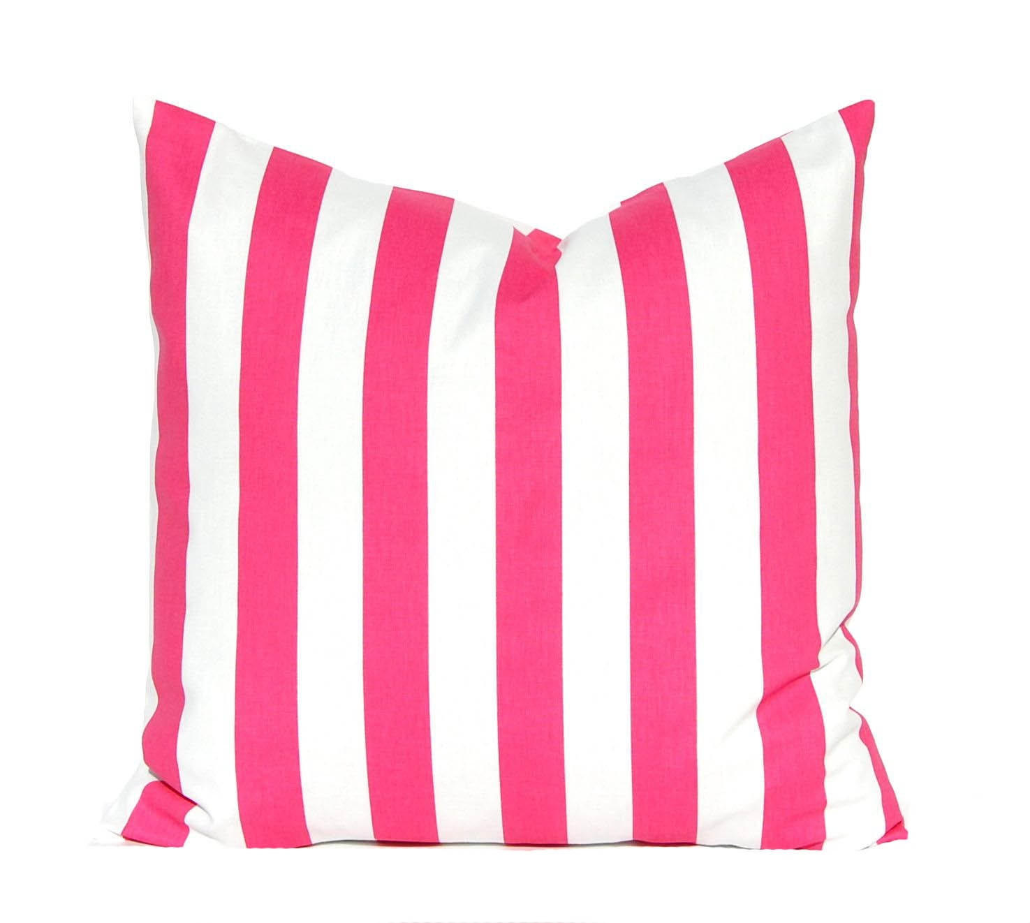 hot pink pillow cover stripe pillow cover throw pillow. Black Bedroom Furniture Sets. Home Design Ideas